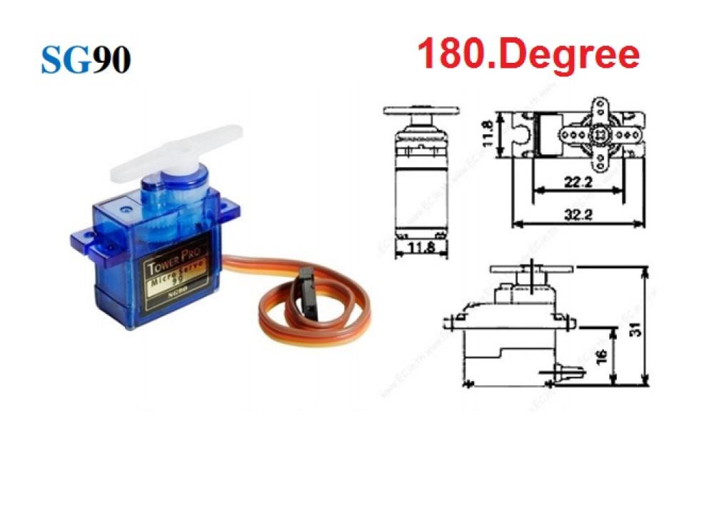 Micro Servo MOTOR SG90 180degree for Arduino