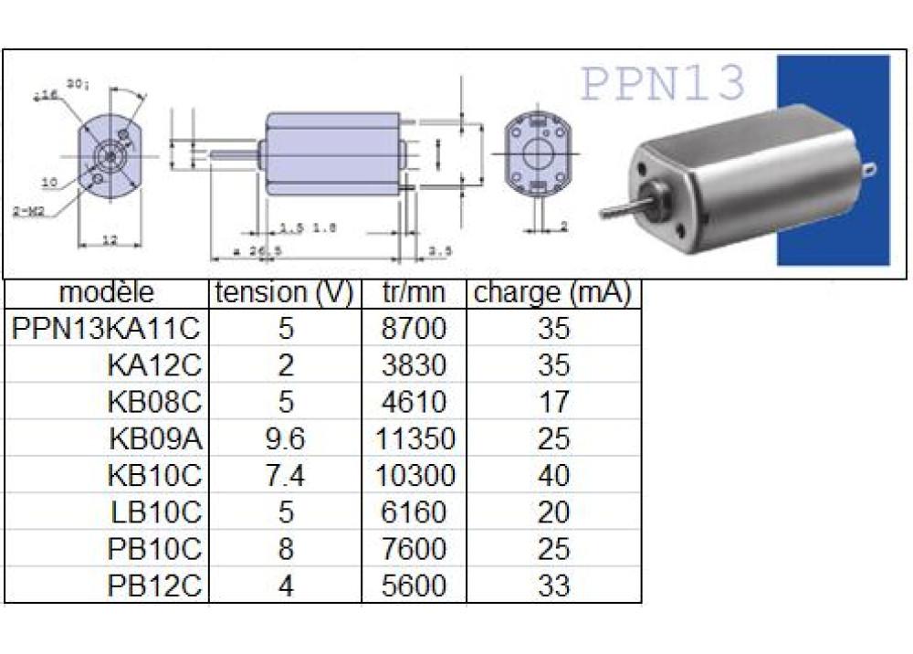 DC MOTOR PPN13KA11C 16mm 12V