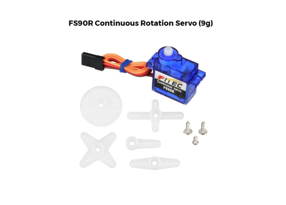Continuous Micro Servo MOTOR FS90R 360degree for Arduino