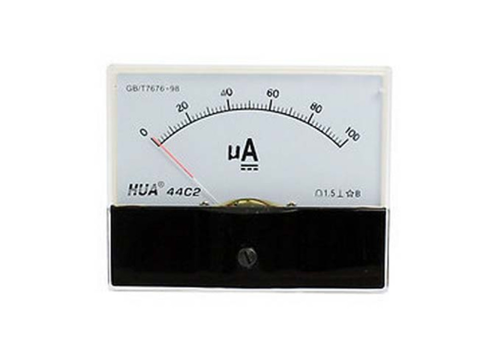ANALOG PANEL METER 44-C2 DC 0~100uA