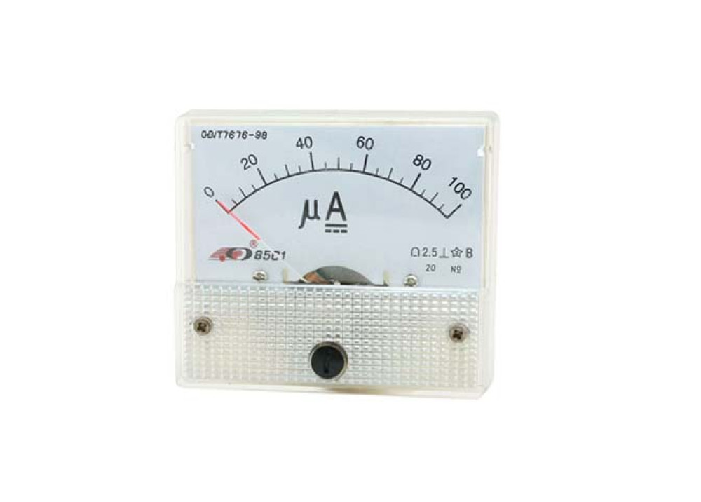 ANALOG PANEL METER 85C1 DC 0~100uA