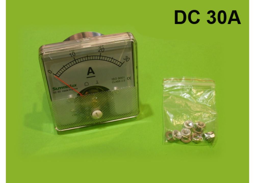 Panel meter AMP 6x6CM 30A DC