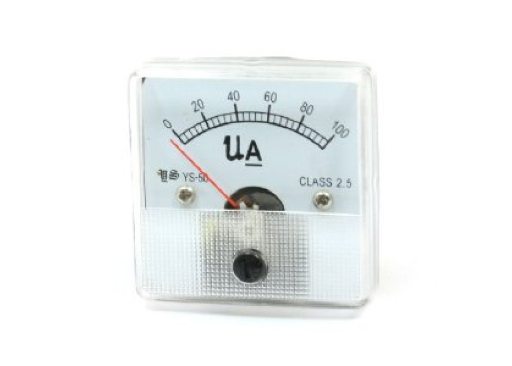 ANALOG PANEL METER YS-50 DC 0~100uA