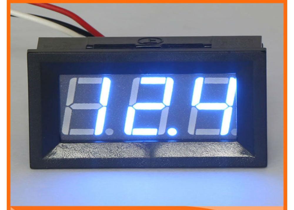 Digital DC Volt Meter BLUE 3.2V~30V