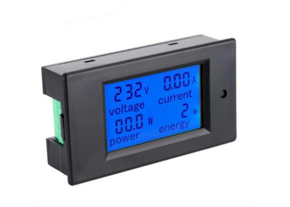 Digital Panel 110-220V LCD Digital Measure 80~260VAC 100A Voltage Current Power Energy Voltmeter Ammeter + CT Current Transforme PZEM-061