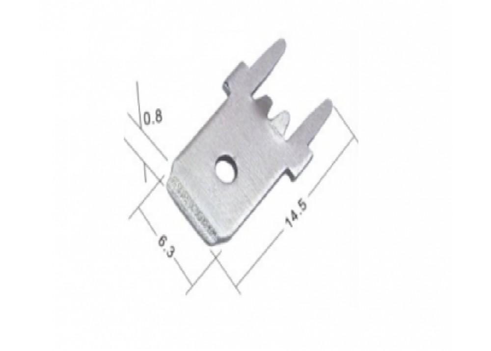 PCB Male Spade Terminal 6.3mm 0.8mm