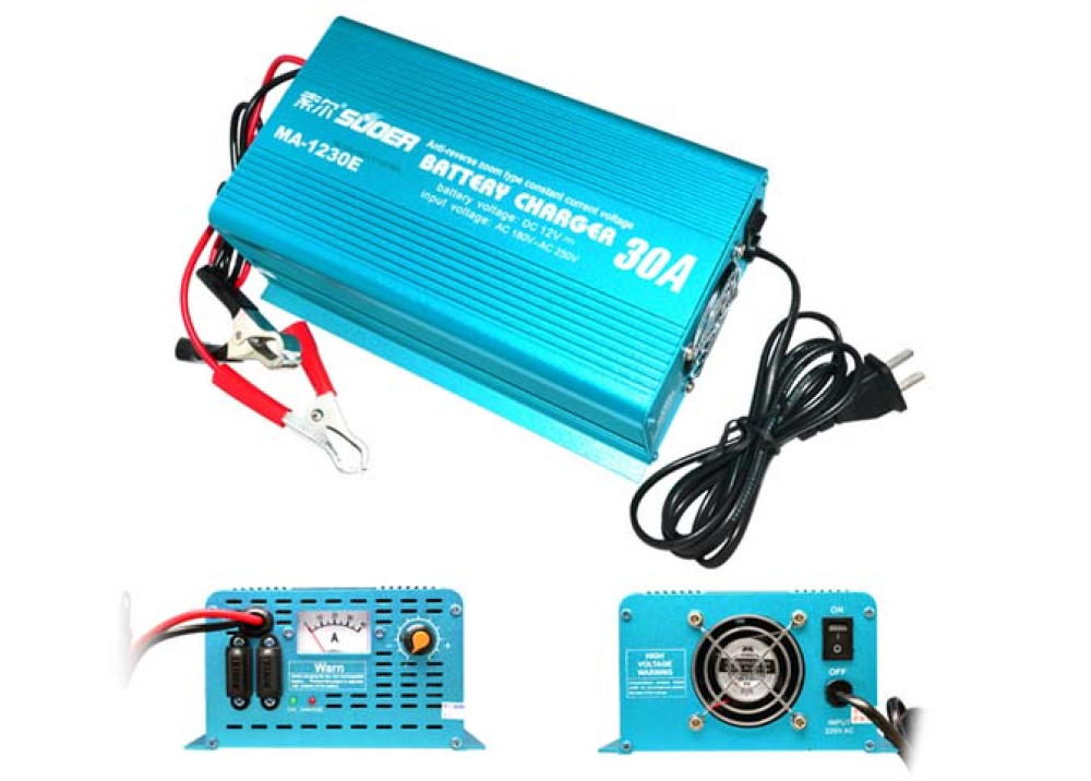 Suoer Battery Charger MAD-1230E 12V 30A