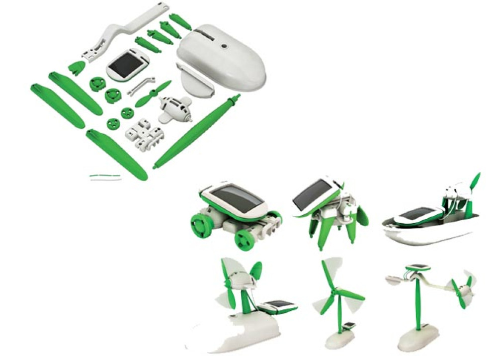 solar robot kits 6 in 1