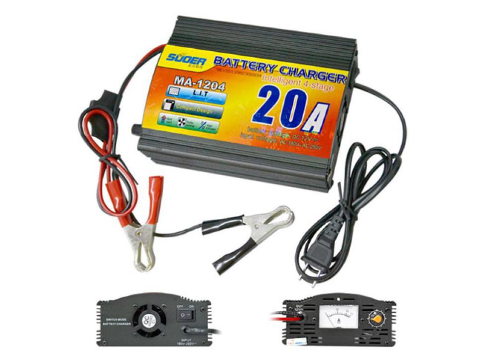 Suoer Battery Charger 20A 12V Battery MA-1220 12V 20A