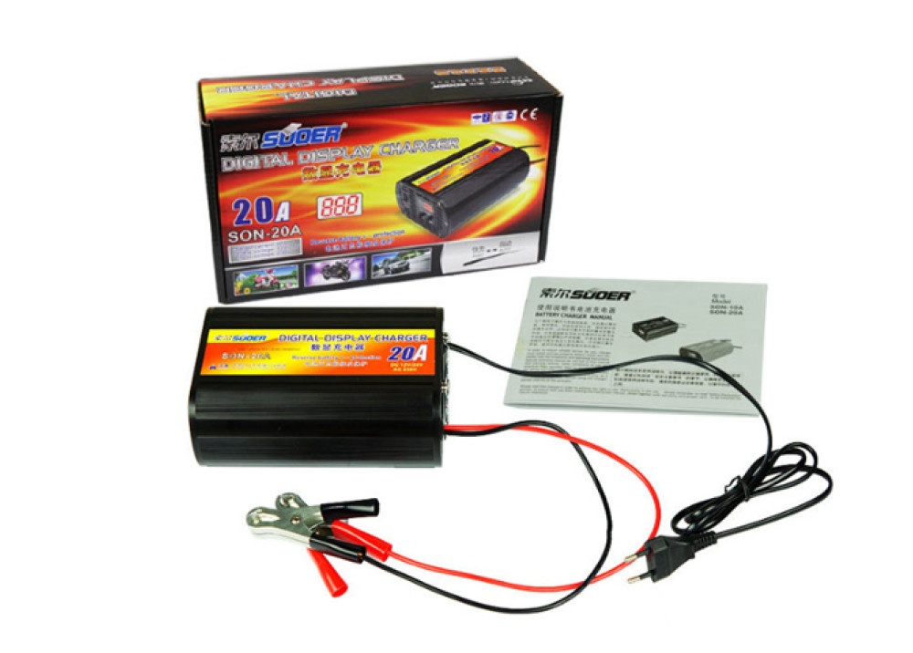 Suoer Battery Charger SON-20A 12V/24V 20A