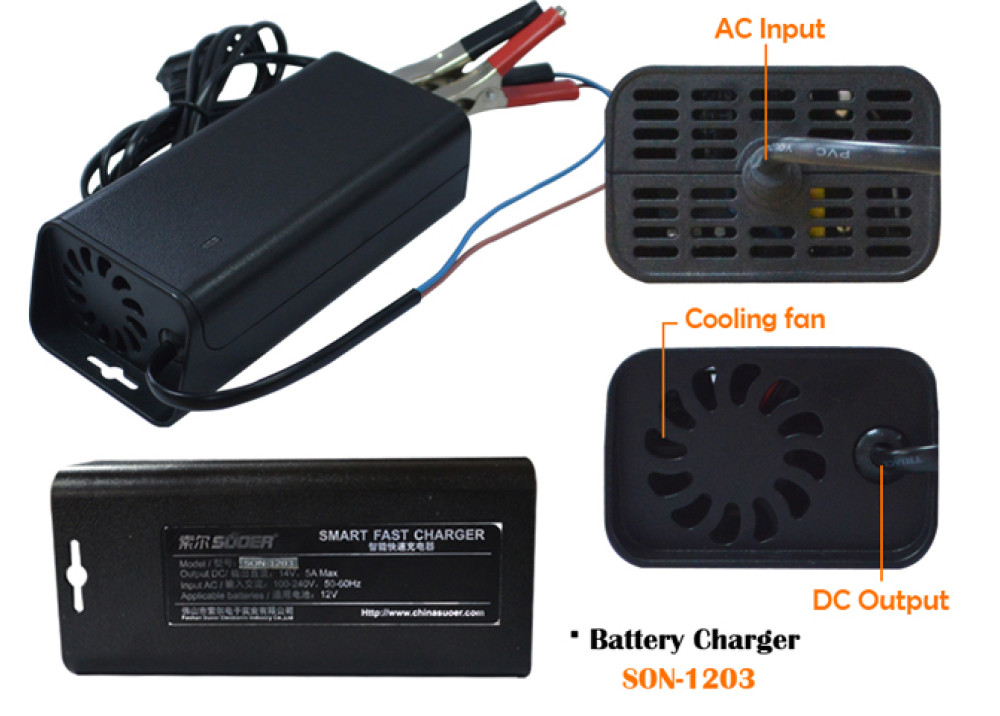 BATTERY SUOER CHARGER SON-1203 12V 3A