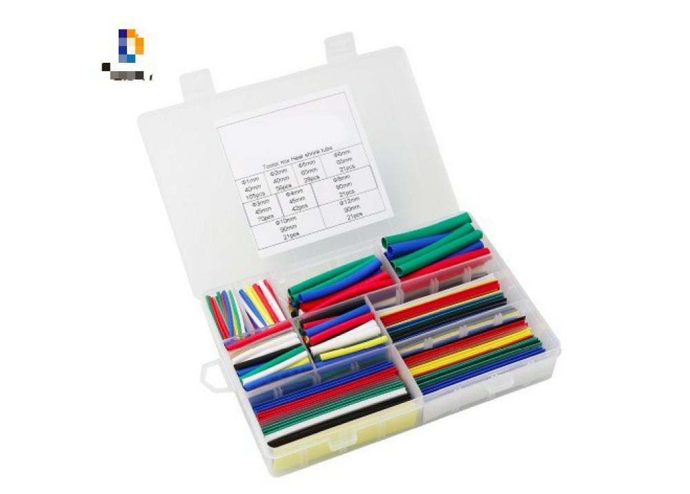 Heat Shrink Tubing set 9sizes 7colors 385pcs/lot heat shrink tube 2:1