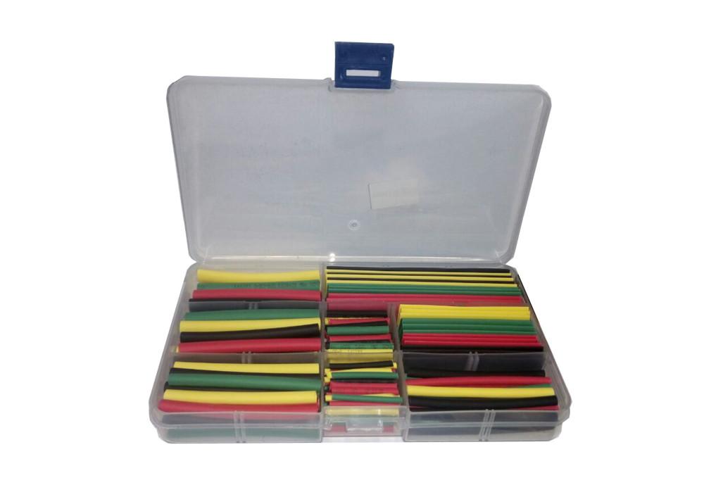 Heat Shrink Tubing set 8sizes 4colors 140pcs/lot heat shrink tube