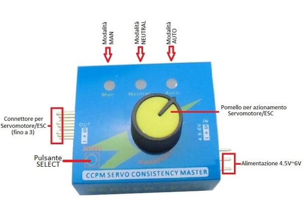 Multi Servo Tester 3CH ECS Consistency Speed Controler Power For Arduino