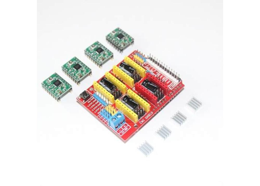 Arduino CNC SHIELD V.3 + 4Drive A4988