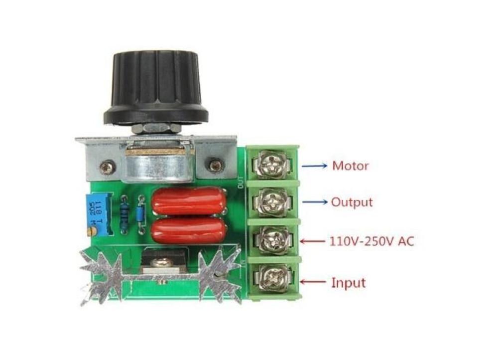 PWM AC Motor Speed Control 2000W 50~220V
