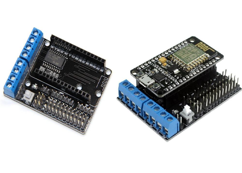 Arduino ESP8266 WiFi Motor Drive Expansion Board, L293D ESP12E Lua Things Smart Car