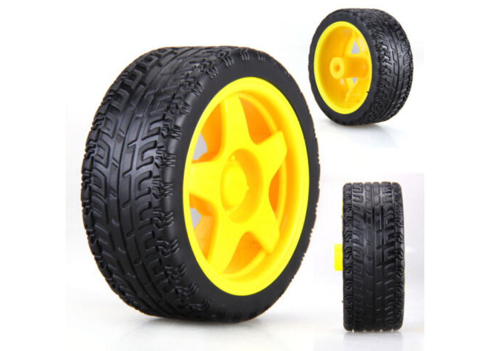 Plastic Tire Wheel 65x26mm for Arduino 1.Pc