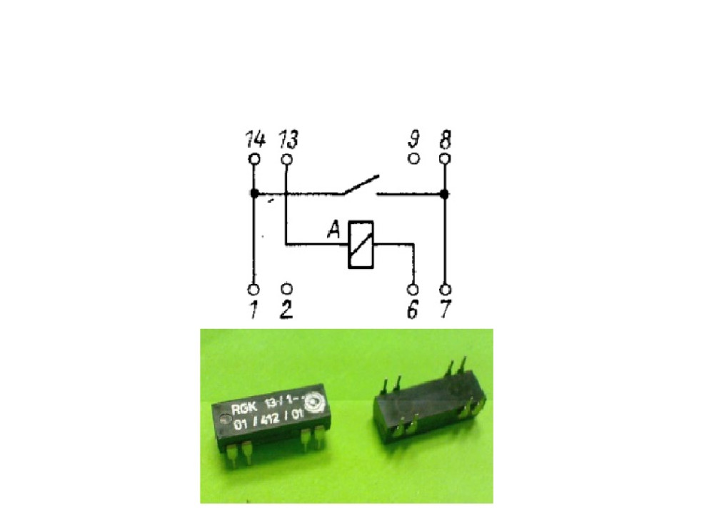 REED RELAY 12V 1A 1C 8P / RGK-13/1-01/412/01