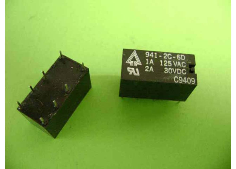 RELAY 941-2C-6D 6VDC  1A 125VAC  2A 30VDC 2C 8P