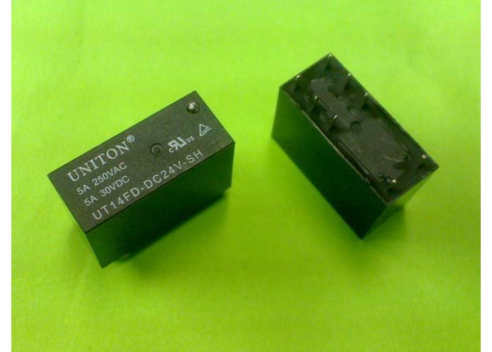 RELAY UNITON  UT14FD-DC24V-SH 24V 5A 8P