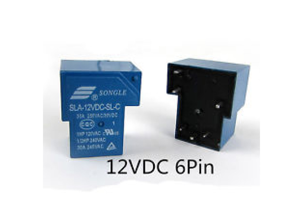 RELAY SONGLE SLA-12VDC-SL-C T90 12V 30A 6P