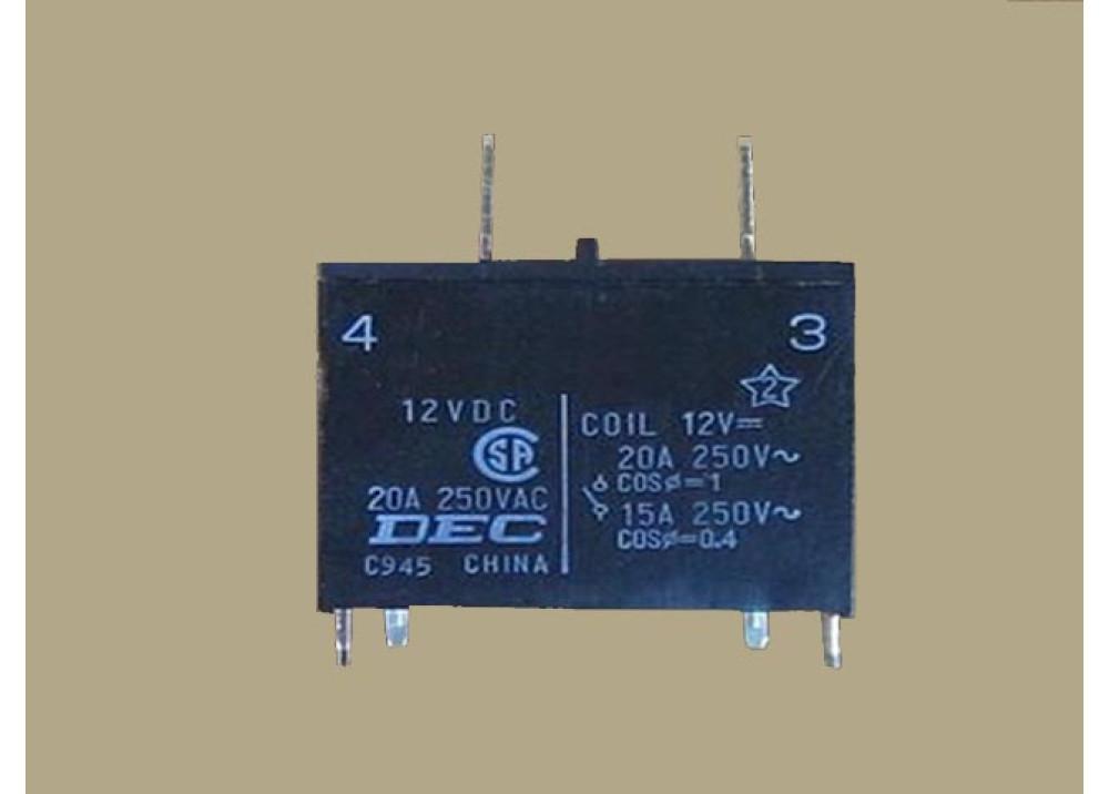 RELAY DI1U-12VDC 12V 20A 4P