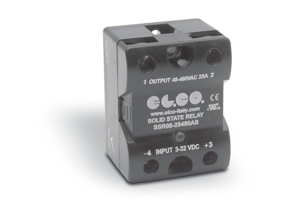 SSR El.Co SSR08-25480AS OUT48~480V 25A AC IN 3~32DCV