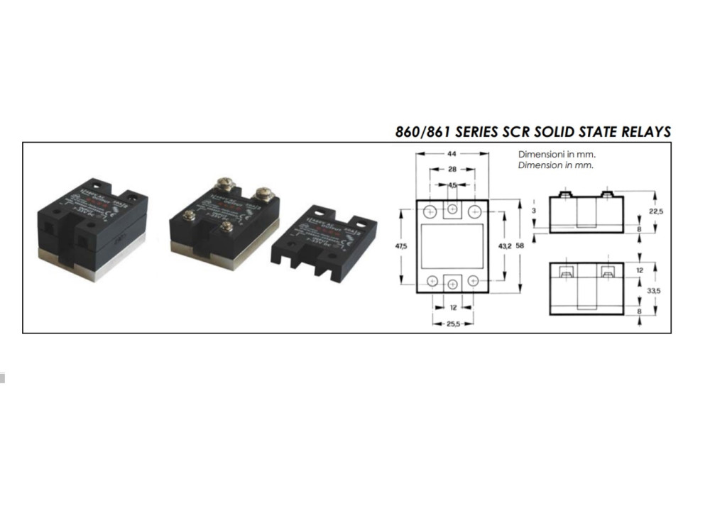 ELCO SSR860-70480CS 480V 70A INPUT 90~240 VAc/Dc
