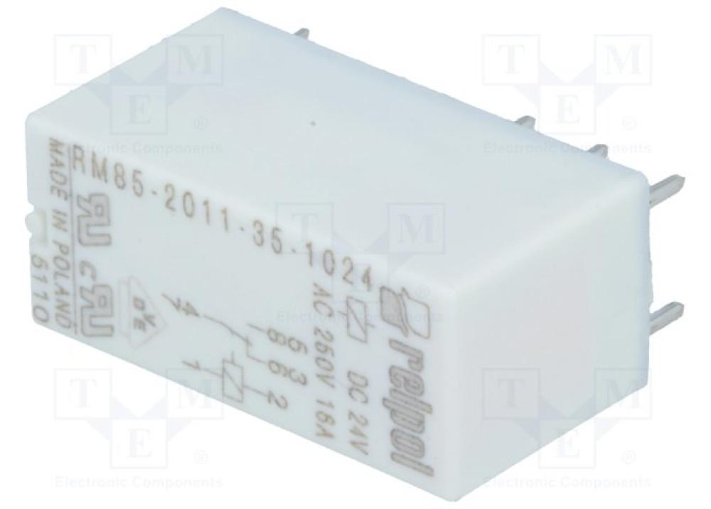 Relpol Relay 24V DC 16A 8P RM85-2011-35-1024
