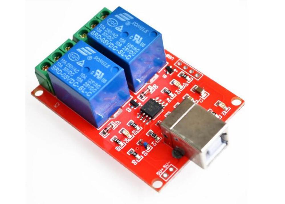 Arduino Relay Module Board USB 2CH  SRD-5VDC-SL-C T73 5VDC 10A