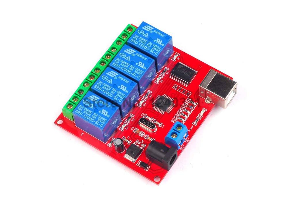 Arduino Relay Module Board USB 4CH  SRD-5VDC-SL-C T73 5VDC 10A