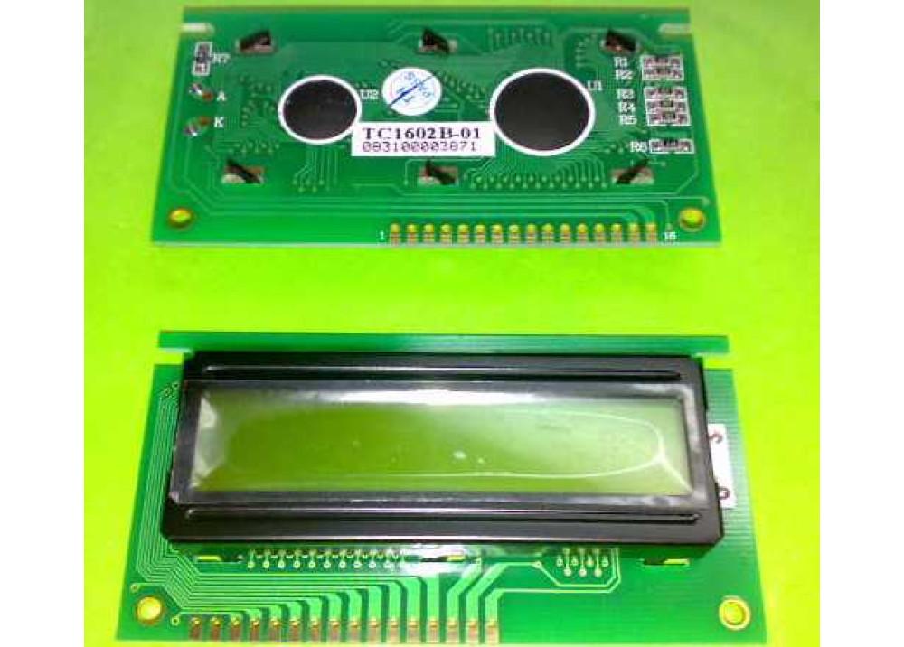 LCD CHRACTER TC 16X2 TC1602B-01
