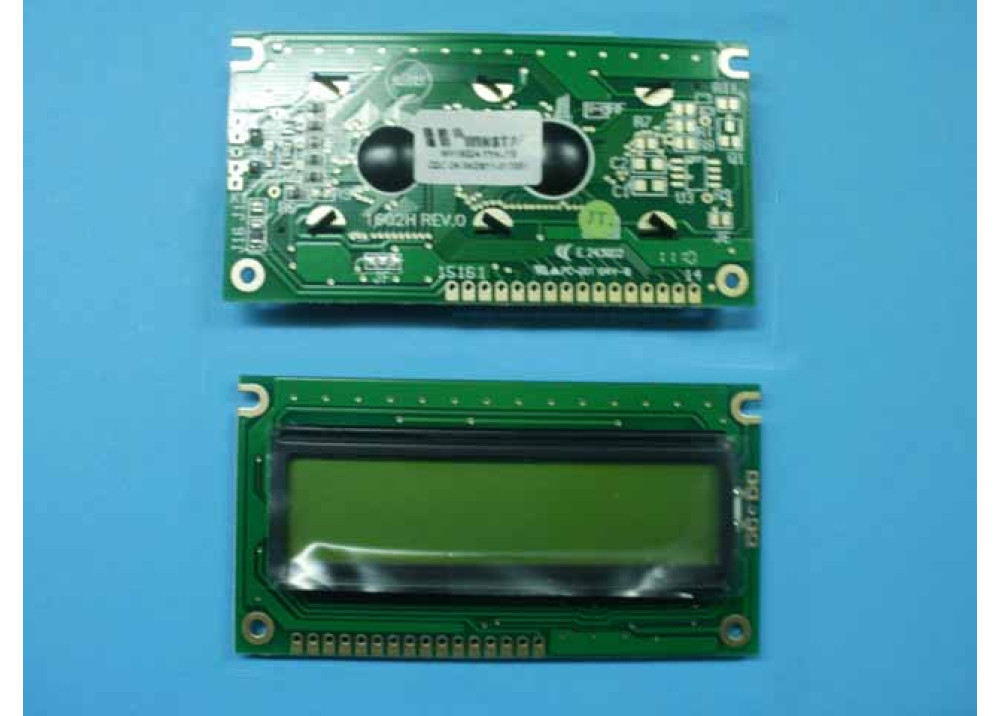 LCD CHRACTER WH 16X2 WH1602A-YYH-JT