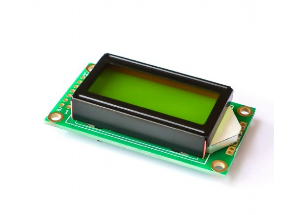 LCD display Yellow color  CHRACTER 0802 8X2