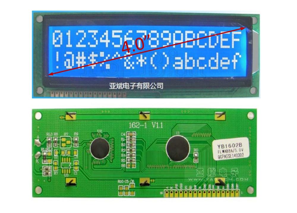 LCD CHRACTER BLUE  YB1602B 16X2