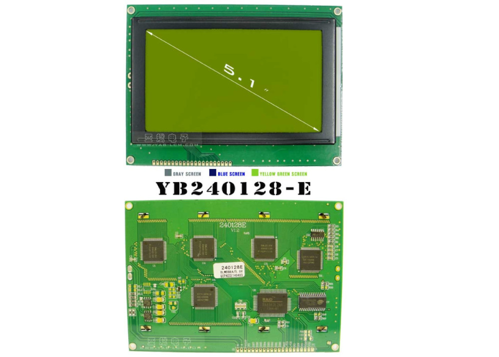 LCD Display Blue screen YB240128-E 240X128