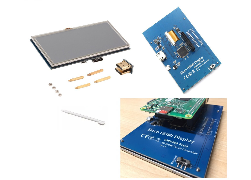 LCD Color Touch 5 Inch XPT2046 FOR Raspberry PI