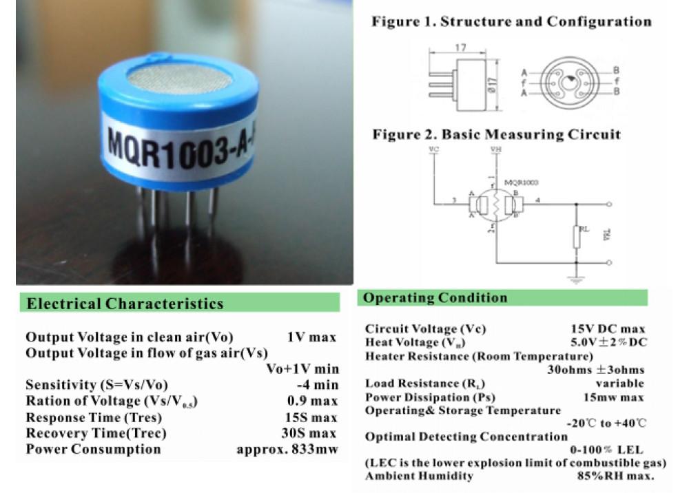 SENSOR Detects Hydrogen MQR1003AH