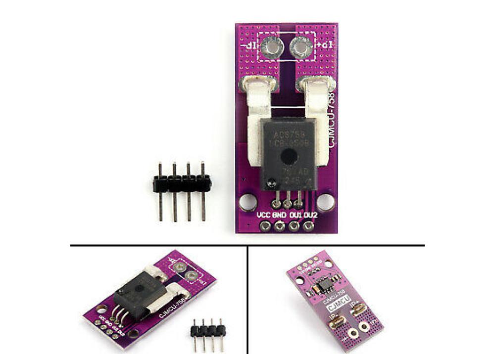 MCU-758 ACS758LCB-050B-PFF-T linear current sensor Hall current module  For Arduino