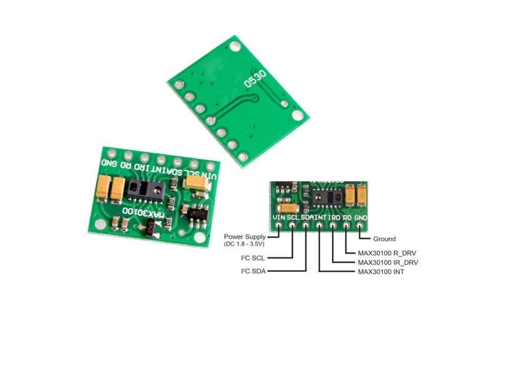 Heart Rate Click MAX30100 modules Sensor MAX30100 Heart Rate Oxygen Pulse Sensor For Arduino