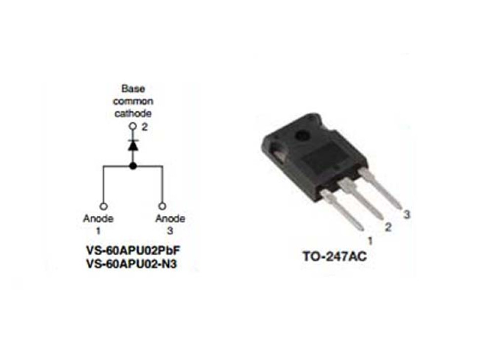 DIODE 60APU02 UFAST 200V 60A 35ns TO-247AC-3