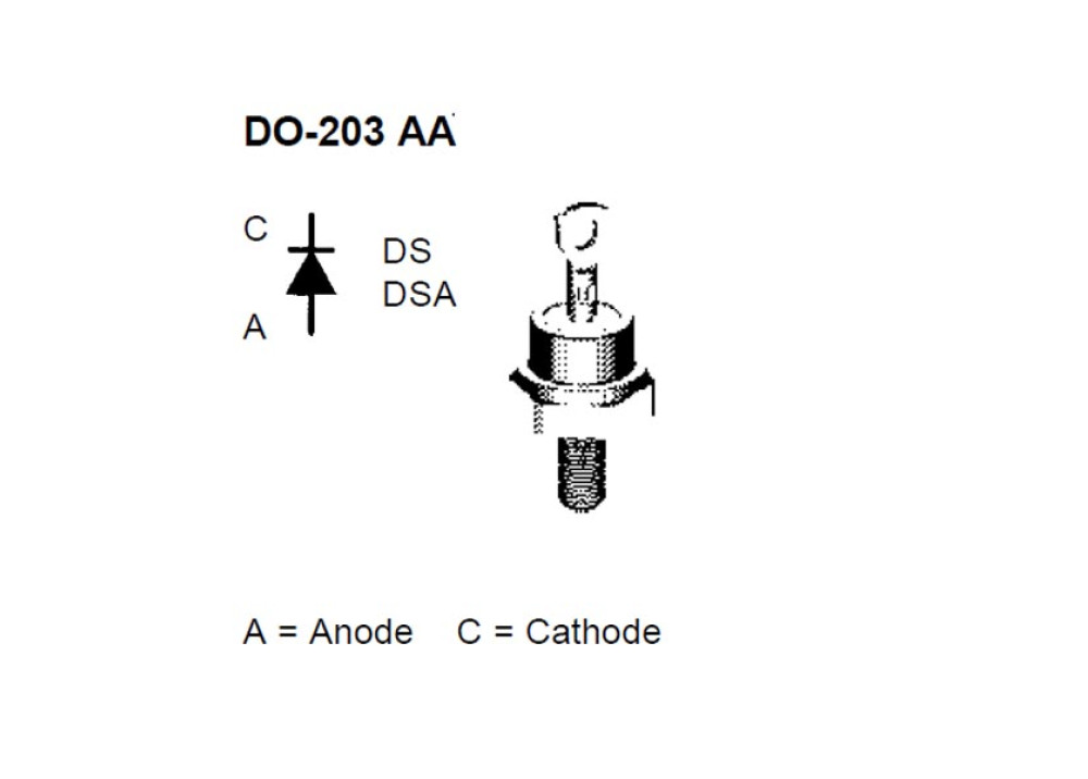 DIODE DS17-12A 1200V 25A 500ns DO-203AA