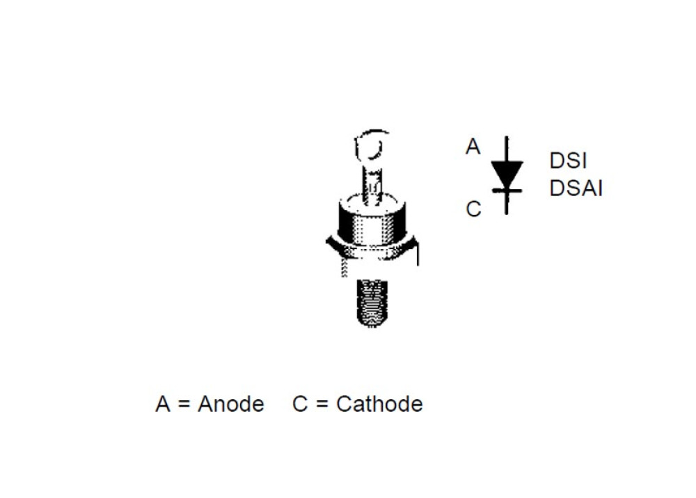 DIODE DSI17-12A 1200V 25A 500ns DO-203AA