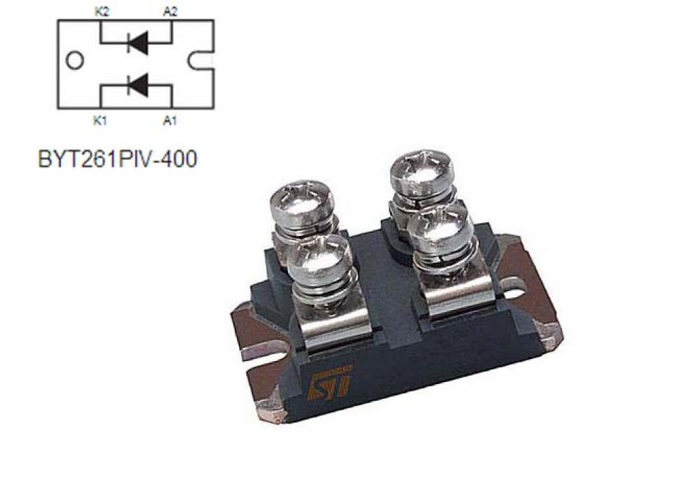 DIODE BYT261PIV-600 600V 2x60A 50ns ISOTOP