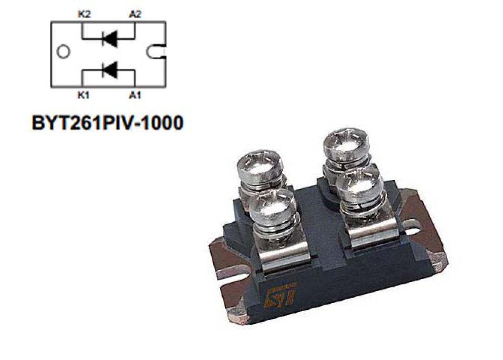 DIODE BYT261PIV-1000 1000V 2x60A 70ns ISOTOP