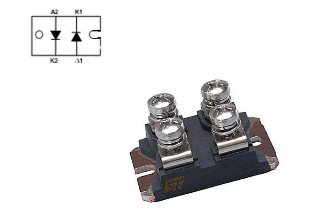 DIODE BYT230PIV-1000 1000V 2x30A 80ns ISOTOP