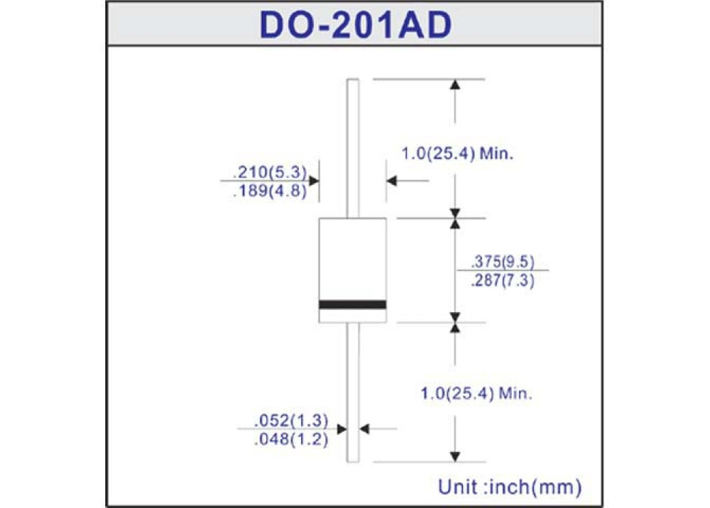 DIODE BYT03-400 400V 3A 25ns DO-201AD
