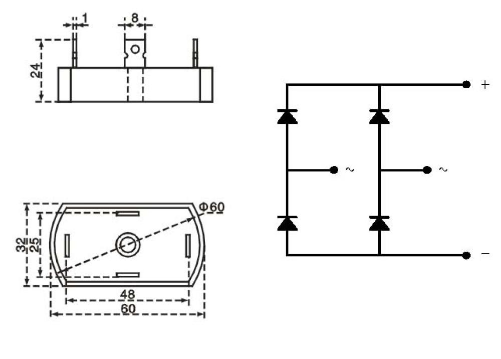 Rectifier Bridge SINGLE PHASE QL5010 50A 1000V