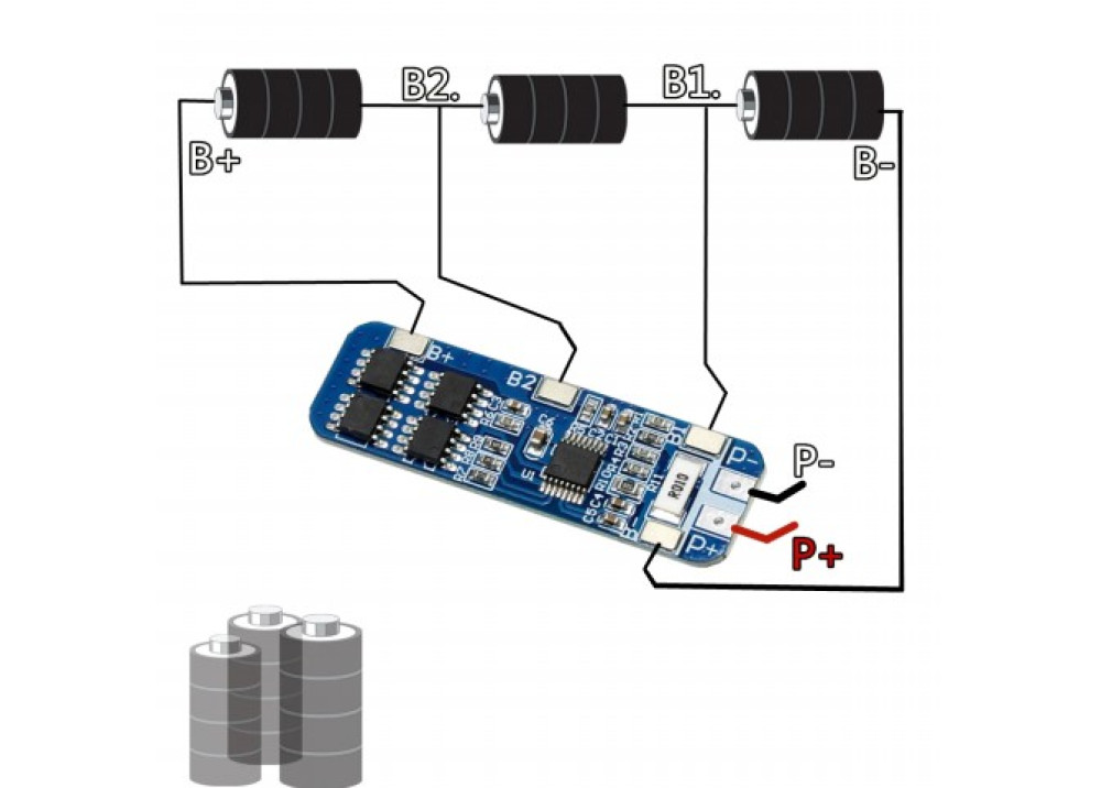 Power Bank Module Module 3S 10A 12.6V USB Lithium Battery Charger